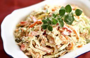 салат из омлета - кето рецепты