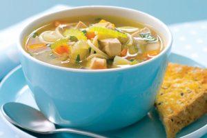 куриный кето-суп с лапшой