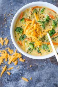 Кето-суп с сыром чеддер