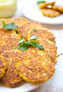 оладьи из цветной капусты на обед кето рецепт