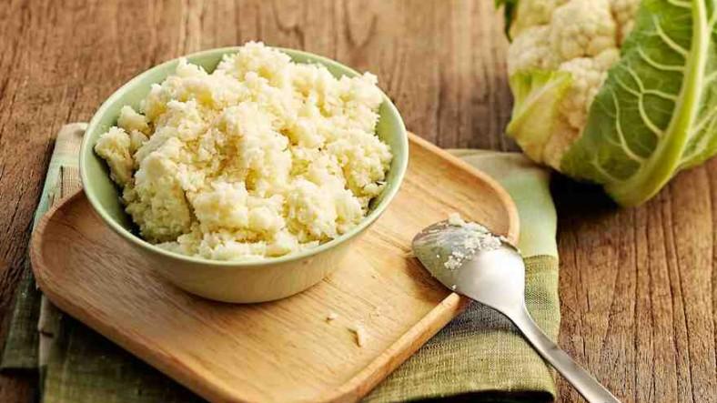 Кето рис из цветной капусты - рецепт.