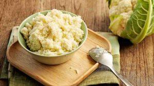 рис из цветной капусты на кето обед рецепт