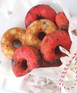 вишневые кето пончики