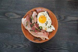 Яичница для примера кето завтрака