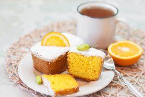 Кето бисквит из кокосовой муки с апельсином.