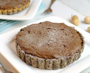 шоколадный кето торт с арахисовым маслом