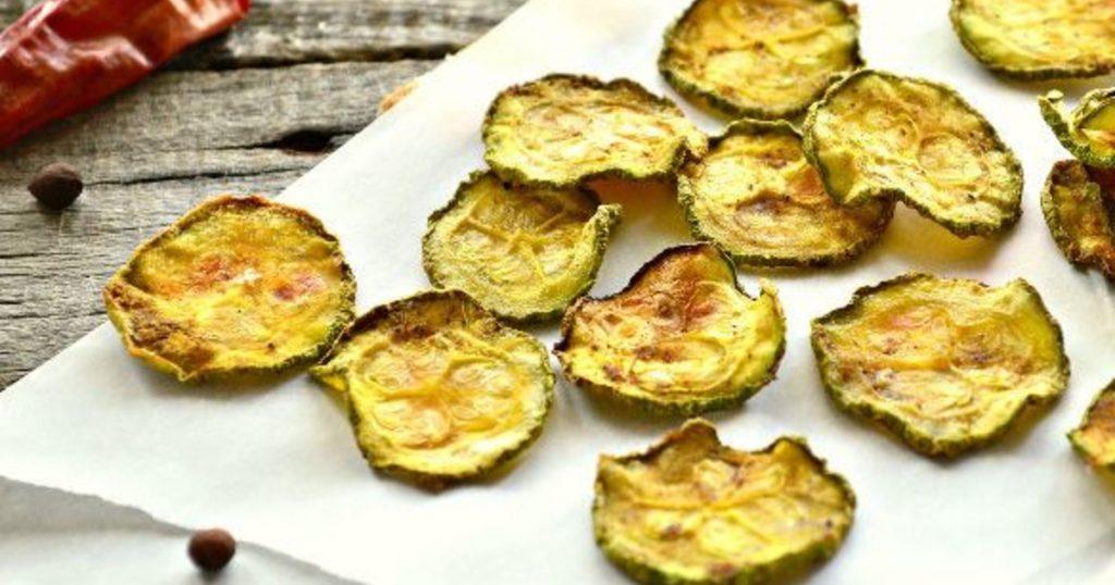 Огуречные чипсы без калорий — рецепт