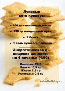 Кето крекеры – рецепт хрустящих луковых печенек