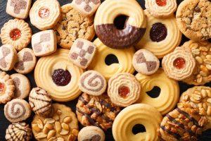 Большое разнообразие кето печенья.