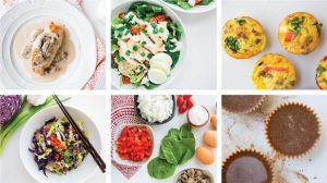 Блюда из кето меню на месяц по неделям - 1500 калорий.