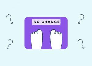Вес перестал уходить. Весы показывают то же самое.