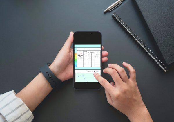 Трекер для питания для кето диеты на экране смартфона.