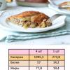 Страница из книги с рецептами кето выпечки - пирожки с яблоками.