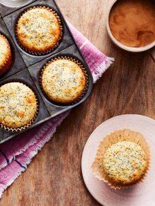 Кексы из творога с маком - кето рецепты из творога.