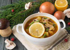 Грибная кето солянка. Суп для кето диеты.