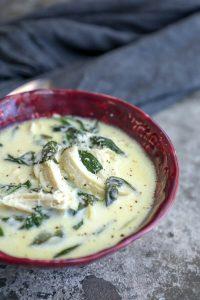 Суп с кето индейкой. Густой сливочный суп без углеводов.